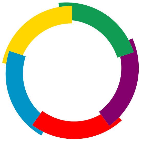 Francophonie - Represents the logo of la francophonie (4×4)