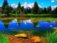 peisaj - Lac în munți. ++++++++++++++++++++++++++++++++++++++++++++++++++. Puzzle care arată un peisaj min