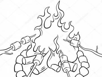 Punto fuoco scout - è puzzle di fuoco