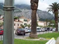 Een stad in Kroatië - Straat bij de haven in Kroatië