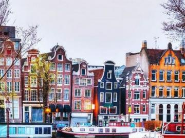 wielokolorowy Amsterdam - Kolorowy Amsterdam