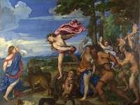 Bachus i Ariadna'' - Obraz Tycjana pt. Bachus i Ariadna''