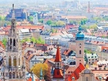 Monachium - Widok na miasto Monachium