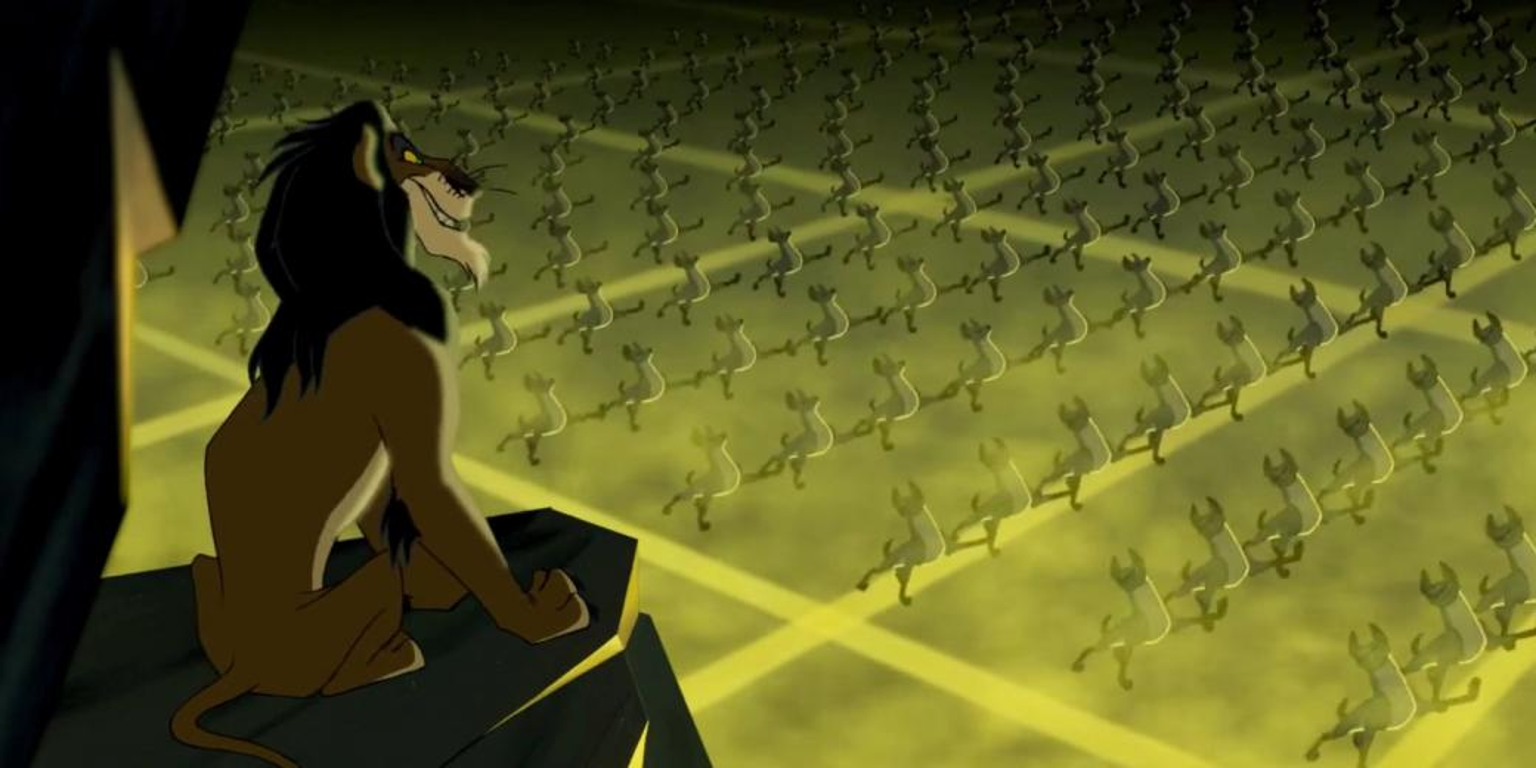 Ärr och hyener - Kadr z filmu Król lew'' (3×5)