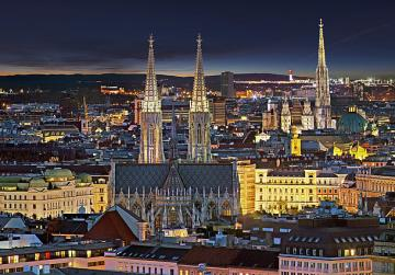 Vienna by night - The capital of Austria at night