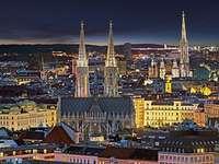 Viena à noite - A capital da Áustria é de noite