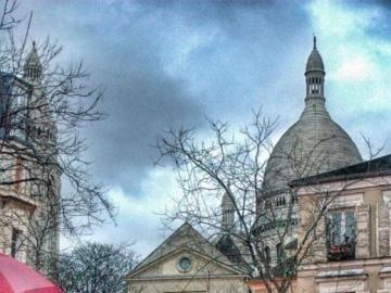 Montmartre, Paris - Auf dem Montmartre-Viertel in Paris