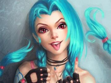 Crazy Jinx - Jinx from the League of Legends game