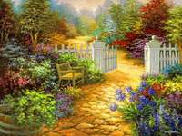 Jardin peint.