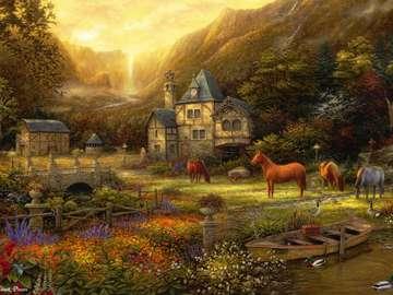 Animals in the landscape. - Animals in the landscape.