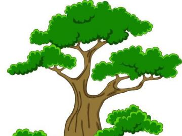 mathematical tree - jigsaw puzzles which have to be used for counting