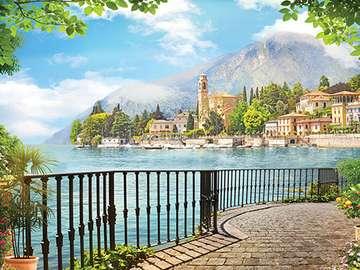 Śródziemnomorski widok. - Sródziemnomorski krajobraz.