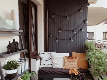 Piękny balkon - Pomysł na balkon w bloku