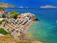Sunny Řecko. - Sunny Řecko krajina.