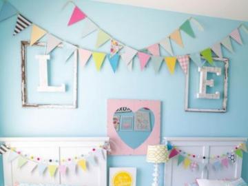 Pokój dla dziewczynki - Pastelowy pokój dla dziewczynki