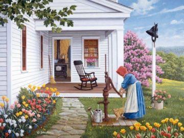 A colorful picture. - Colorful landscape puzzle.