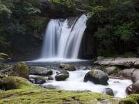 waterfall - beautiful waterfall in the mountains