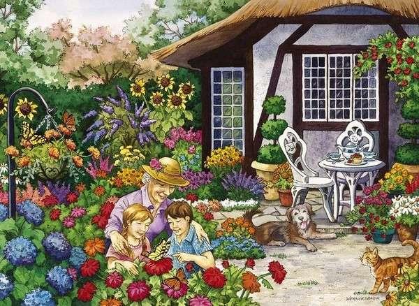 Oma mit Enkelkindern - Puzzle: Oma mit Enkelkindern (10×10)