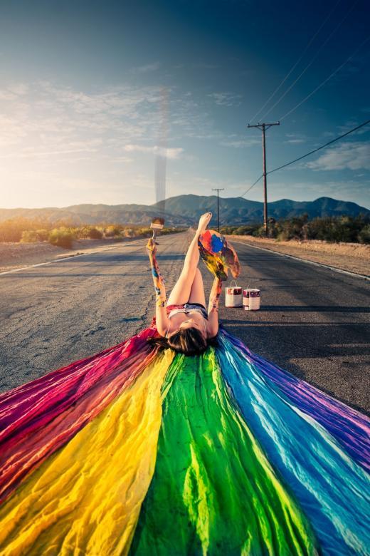 Rua do arco-íris - Arte moderna, arco-íris (6×13)