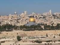 Arany mecset a dombon, Jeruzsálemben. - arany mecset a jeruzsálemi dombon.
