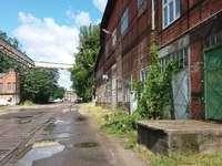 Régi hajógyár Gdanskban. - Régi hajógyár Gdanskban.