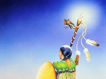 Indian picture. - Indiański krajobraz