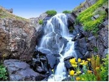 Waterfall . - Waterfalls in Poland.