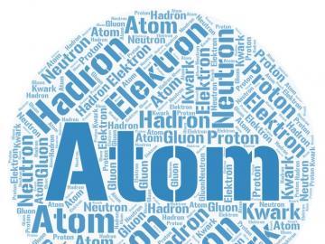 Composizione Atom - Puzzle che descrivono le particelle costituenti della materia.