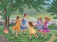 filles de danse - pré danse, campagne, vacances