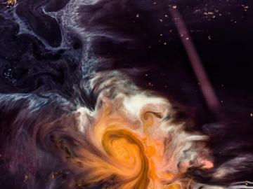 Abstrakcyjny dym - Abstrakcyjny obraz graficzny