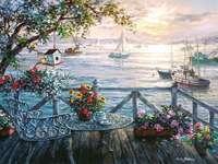 L'été à la mer - Peinture. L'été à la mer