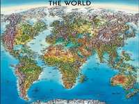 World map. - Puzzle: map of the world.