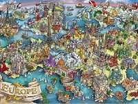 L'Europe était - Carte, temps anciens, dessin, Europe,