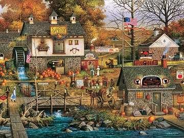 Amerykański obrazek. - Amerykański krajobraz.