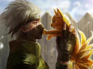 Kakashi i Little Nine Tailed Naruto Fox! - Zagraj w Kakashi x Naruto! XD ENJOY! ^^