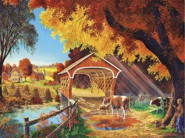 Autumn picture. - Puzzle: autumn picture.