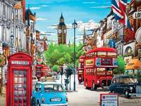 Londen landschap. - Puzzel: London landscape.