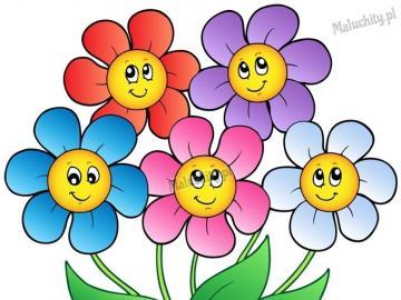 Blumen - Die Puzzlespiele stellen bunte Blumen dar