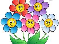 flowers - The puzzles represent colorful flowers