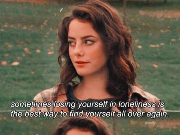 finding yourself effy - loneliness as a way to find yourself
