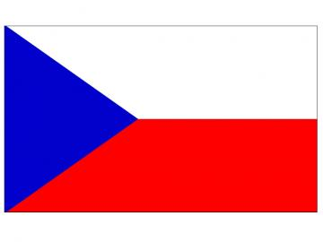 Bandiera ceca - bandiere dei paesi europei