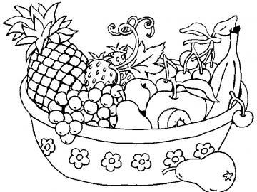 Panier à fruits - Fruits type panier puzzle manger en jouant