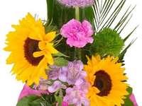 Zonnebloemen in een boeket
