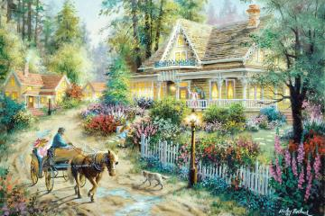 Painting. - Art. Painting. In the countryside. Jigsaw puzzle. Art. Painting. Painting.