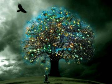 gráfico de árbol mágico - arte de diseño gráfico de árbol mágico