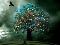 magische Baumgrafik - Grafikdesignkunst des magischen Baums