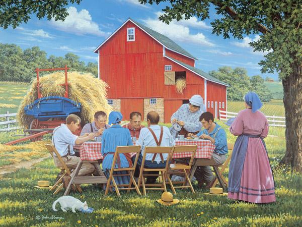 Vidéki táj - Puzzle: vidéki táj (10×10)