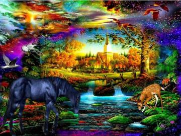 Colorful picture. - Colorful puzzle ...