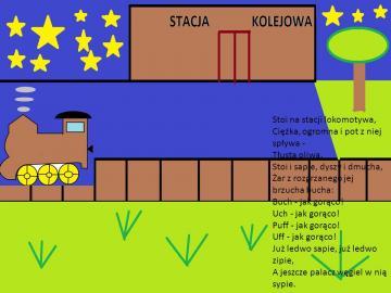 Lokomotywa - Puzzle Lokomotywa Julian Tuwim