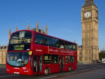 bus to london - bus to London with Big Ben